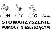 MIG-iem Stowarzyszenie Pomocy Niesłyszącym logo
