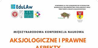Plakat Konferencja naukowa: Aksjologiczne i prawne aspekty niepełnosprawności