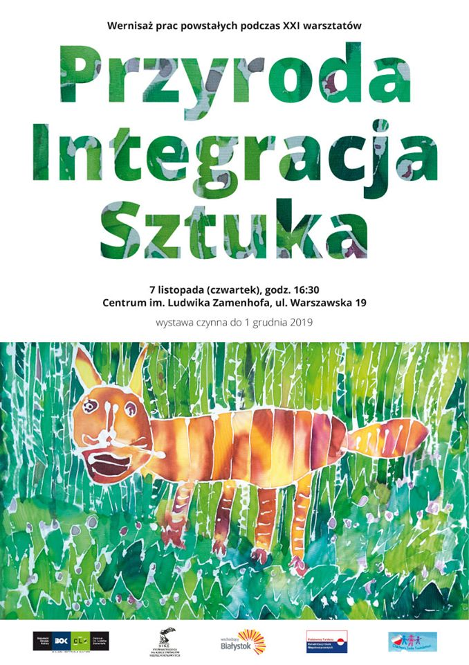 Przyroda Integracja Sztuka - wernisaż wystawy po-warsztatowej
